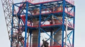 petrokimya : Mega-structures under construction ; Industrial plants for the production and processing of oil and gas under construction,tilt video clip.