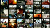 Industry and workers ; Various types of industrial production, construction sites, workers of different professions,video clips editing in a split screen Vídeos