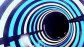 inner journey : Colorful aqua park tunnel slide ; Passing through a colorful tunnel slide in aqua park,video clip