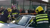 Zrenjanin ; Serbia; 22.11.2017. Teams to assist victims of traffic accidents - demonstration exercise. Vídeos