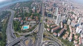 ahmet : Aerial istanbul turkey business center levent  traffic