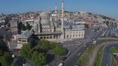 ahmet : aerial istanbul turkey eminonu mosque Stock Footage