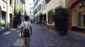 walking on a street in a City 動画素材