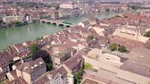 urbane : The city of Basel from above Stock Footage