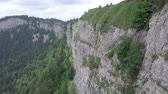 high rock face in Switzerland 動画素材