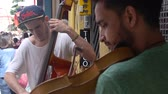 buidling : 2 Guys Busking On Street - Playing Violin & Cello