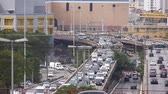 buidling : 4 Roads In The City Full Of Traffic Stock Footage