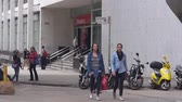 buidling : Girls In Jeans Walking On The Streets of Sao Paulo
