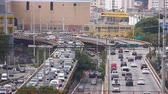 buidling : Sao Paulo - 4 Roads In The City Full Of Traffic Stock Footage