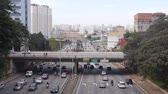 buidling : Sao Paulo City - Bridge With A Backdrop Of Buildings And Cars