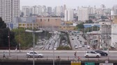 Sao Paulo City - Busy Bridge With A Backdrop Of Buildings And Cars