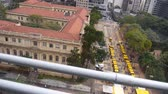buidling : Shot Of Market And Park From Building - Moving Left To Right Stock Footage