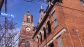 etkileyici : Red Brick Building - Tilt- Up To Down Stok Video