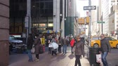kereszt : Busy Street With People Walking Near Buildings - Static Stock mozgókép