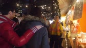 kereszt : People In Christmas Market - Slide - Right To Left