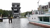 brandenburg : Eberswalde, Finow - August 17. 2014 - Shiplift at the Havel river in timelapse. Normally this action needs about 5 minutes. Here in timelapse with normal audio sound. the famous historic shiplift is located near Berlin and is a sightseeing point