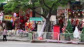 GUANGZHOU - NOV 27: Chinese shops filled with colorful Christmas trees and toys