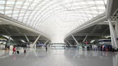 bilhete : GUANGZHOU - NOV 25: Panoramic view of the station hall in Guangzhou South Railway Station