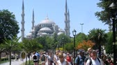 ahmet : ISTANBUL - JUL 3: (Timelapse View) People walk near mosque Sultanahmet Camii, on Jul 3, 2012 in Istanbul, Turkey