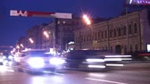 multilane : Cars on evening road Stock Footage