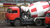 tumblers : Cement-mixer Stock Footage