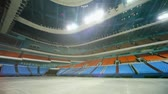 arquibancadas : Circular panorama of huge empty hall of Sports Complex Vídeos
