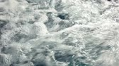 мутный : Water froth and bubbles in whirlpool, closeup view Стоковые видеозаписи