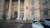 denominou : Library, named after Sv.Zhenevevy in Paris, most of all students for books, view from passing bus window, part2