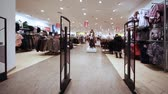 shopping : panorama entrance from control rack in shopping room of clothes