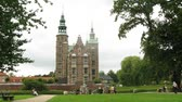 statue : Beautiful Rosenborg Castle, view from garden, time lapse