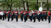 dress : MOSCOW - MAY 8: Army orchestra play in Alexander Garden on May 8, 2011 in Moscow, Russia