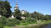 bem aventurado : Church of Assumption of Blessed Virgin and Dimitrii Prilutskogo Church on river Vologda