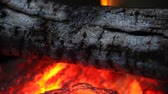 burn : fire fireplace Stock Footage