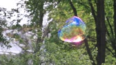 детский : big soap bubble flies up then it bursts