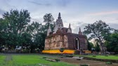 Tilme Lapse Wat Photharam Maha Wihan or Wat Ched Yod is a Buddhist temple in Chiang Mai, Thailand. Stock Footage