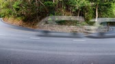 4k timelapse video of sharp curve downhill. Stock Footage