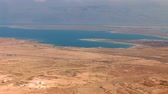 Dead Sea view from the mountain top Stok Video