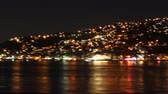 Spectacular view of Istanbuls hills at night from a boat