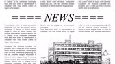 felirat : Scrolling newspaper with Lorem Ipsum text, seamless loop video 4k UHD