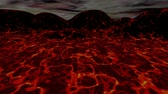 Lava Landschaft 3D-Animation Stock Footage