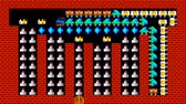 doolhof : Train puzzel, retro-stijl pixelated game graphics animatie met lage resolutie, niveau 25