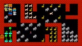 rejtvény : Train puzzle, retro style low resolution pixelated game graphics animation, level 46