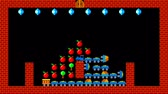 rejtvény : Train puzzle, retro style low resolution pixelated game graphics animation, level 4