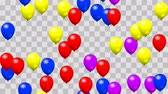 karnaval : Party balloons seamless loop with PNG transparency Stok Video