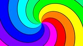 electromagnetic : Rainbow spectral swirl rotating slowly clockwise, seamless loop