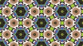 szintetikus : Kaleidoscopic vj seamless loop Stock mozgókép
