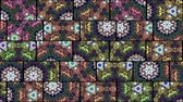 плиты : Mosaic kaleidoscopic vj seamless loop Стоковые видеозаписи