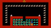 doolhof : Train puzzel, retro-stijl pixelated game graphics animatie met lage resolutie, niveau 12 Stockvideo
