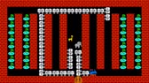 doolhof : Train puzzel, retro-stijl pixelated game graphics animatie met lage resolutie, niveau 41