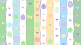 animal egg : Looped Cute Colorful Happy Easter Abstract Pattern Background With Eggs, Butterflies, Dots Animation For Fun Greeting Card or Commercial Template
